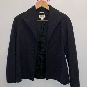 💯% WOOL charcoal coat/blazer
